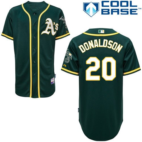 2014 MLB Oakland Athletics 20 Donaldson Green cool base Jersey
