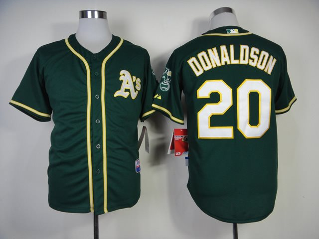 2014 MLB Oakland Athletics 20 Donaldson Green Jersey