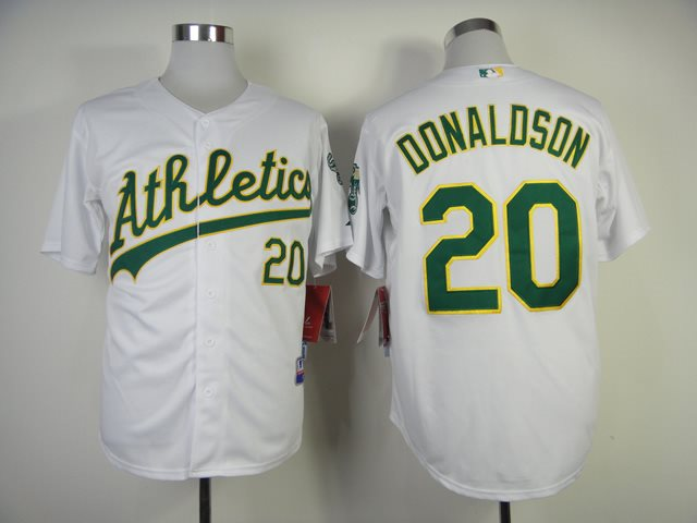 2014 MLB Oakland Athletics 20 Donaldson white Jersey