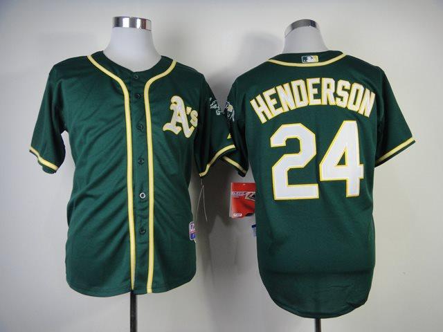 2014 MLB Oakland Athletics 24 Henderson Green Jersey