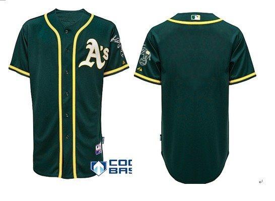 2014 MLB Oakland Athletics blank Green cool base Jersey