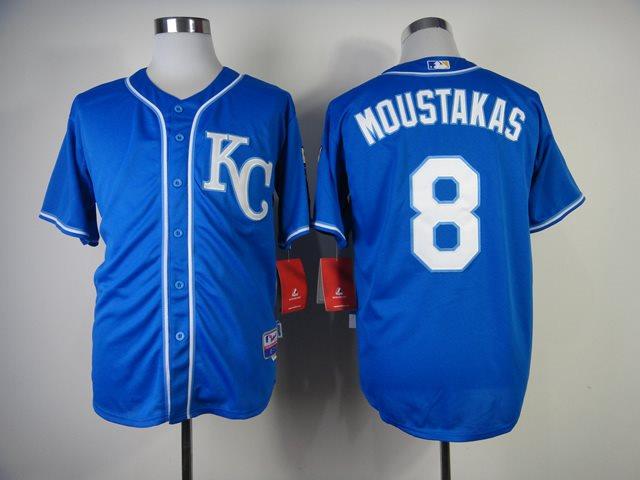 Kansas City Royals 8 Moustakas Authentic 2014 Salvador jerseys