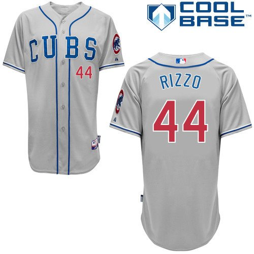 MLB Chicago Cubs 44 Rizzo 2014 grey cool base jerseys