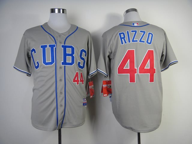MLB Chicago Cubs 44 Rizzo 2014 grey jerseys