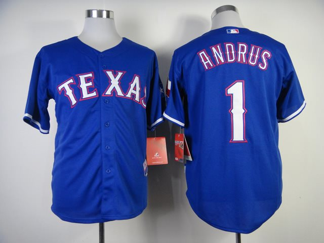 MLB Jerseys Texas Rangers 1 Andrus 2014 new Blue Jerseys