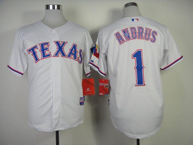 MLB Jerseys Texas Rangers 1 Andrus 2014 new white Jerseys
