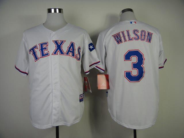 MLB Jerseys Texas Rangers 3 Wilson 2014 new white Jerseys
