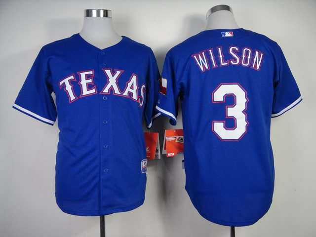 MLB Jerseys Texas Rangers 3 Wilson 2014 new Blue Jerseys