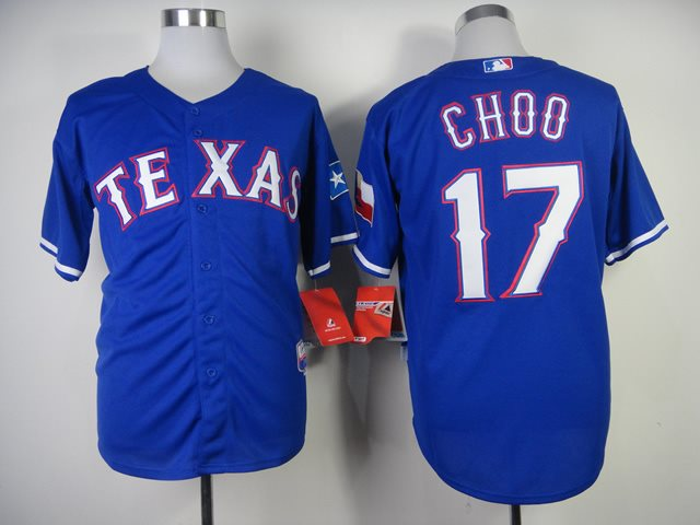 MLB Jerseys Texas Rangers 17 Choo 2014 new Blue Jerseys