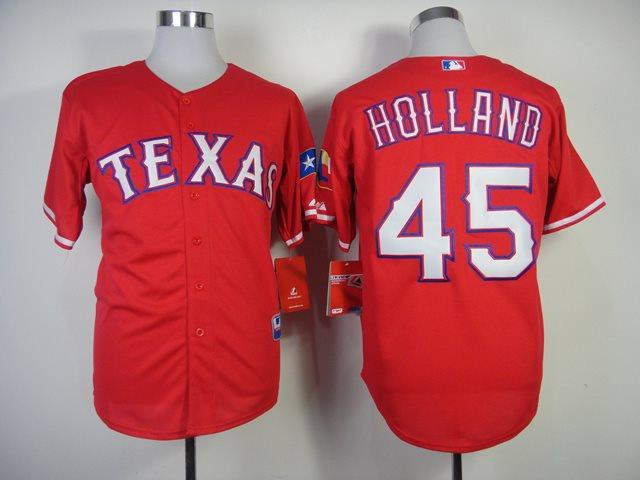 MLB Jerseys Texas Rangers 45 Holland 2014 new red Jerseys