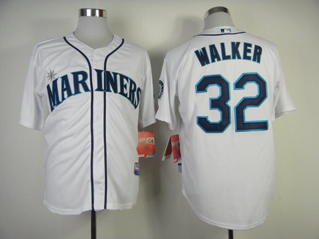 MLB Seattle Mariners 32 Walker White Jerseys
