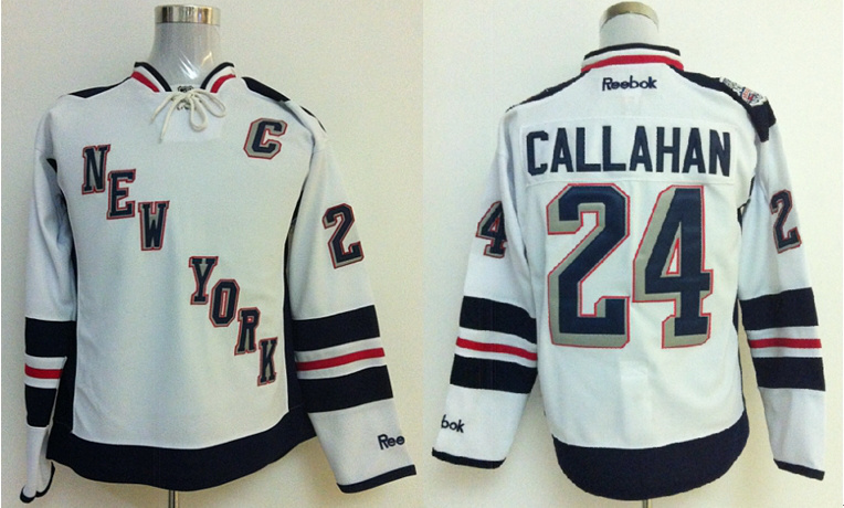 New York Rangers 24 Ryan Callahan White 2014 Stadium Series NHL Jersey