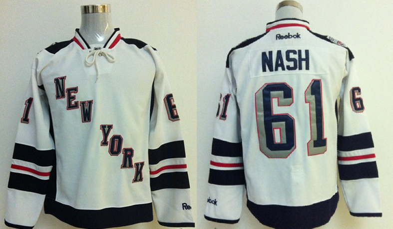 New York Rangers 61 Rick Nash White 2014 Stadium Series NHL Jersey