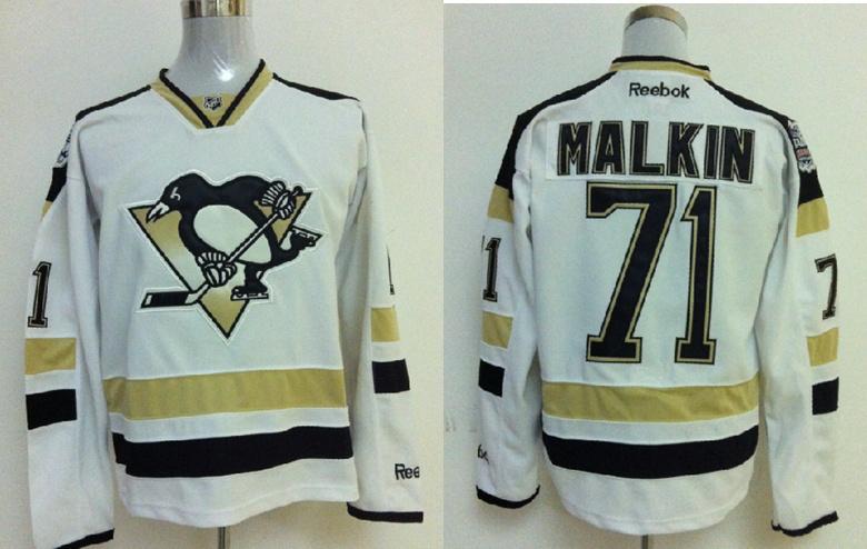 Pittsburgh Penguins 71 Evgeni Malkin White 2014 Stadium Series NHL Jersey