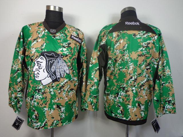 NHL Chicago Blackhawks Blank camo jerseys