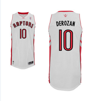 Adidas NBA Toronto Raptors 10 DeMar DeRozan New Revolution 30 Swingman Home White Jersy