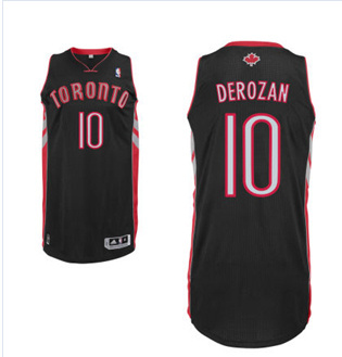 Adidas NBA Toronto Raptors 10 DeMar DeRozan New Revolution 30 Swingman Home black Jersy