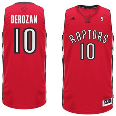 Adidas NBA Toronto Raptors 10 DeMar DeRozan New Revolution 30 Swingman Home red Jersy