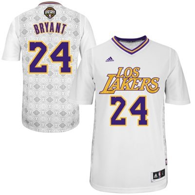 NBA Los Angeles Lakers 24 Kobe Bryant 2014 Noches Enebea Swingman White Jersey
