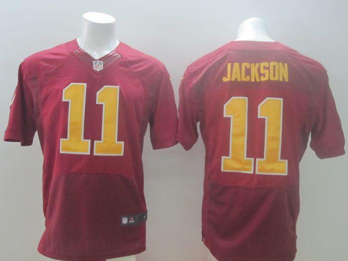 2014 New Nike NFL Washington Redskins 11 DeSean Jackson Burgundy Red with golden letter Elite Jersey