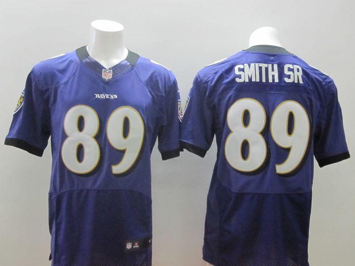 2014 New Nike NFL Baltimore Ravens 89 Steve Smith Sr purple Jersey