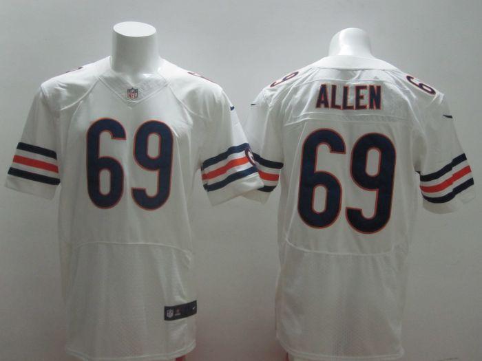 2014 New Nike NFL Chicago Bears 69 Jared Allen white Elite Jersey
