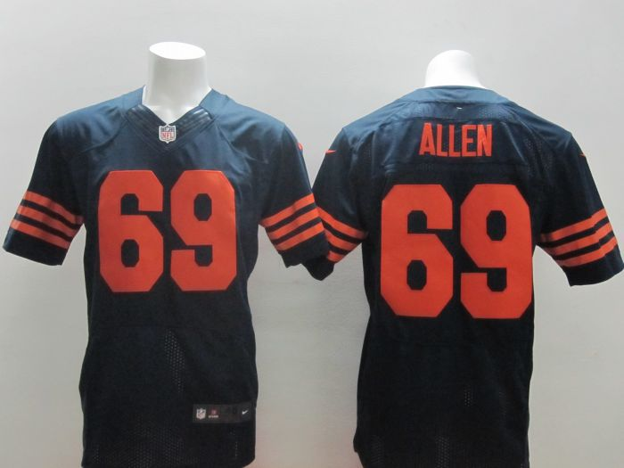 2014 New Nike NFL Chicago Bears 69 Jared Allen Blue Elite Jersey