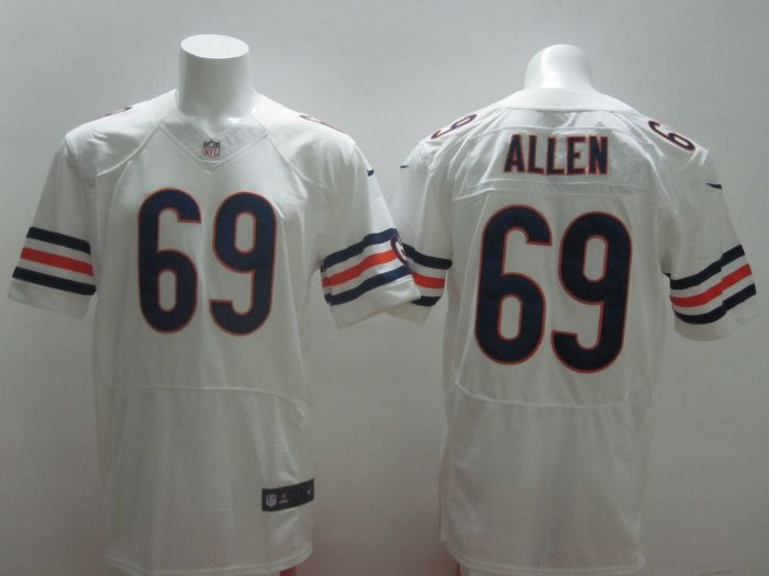 2014 New Nike NFL Chicago Bears 69 Jared Allen white Elite Jersey