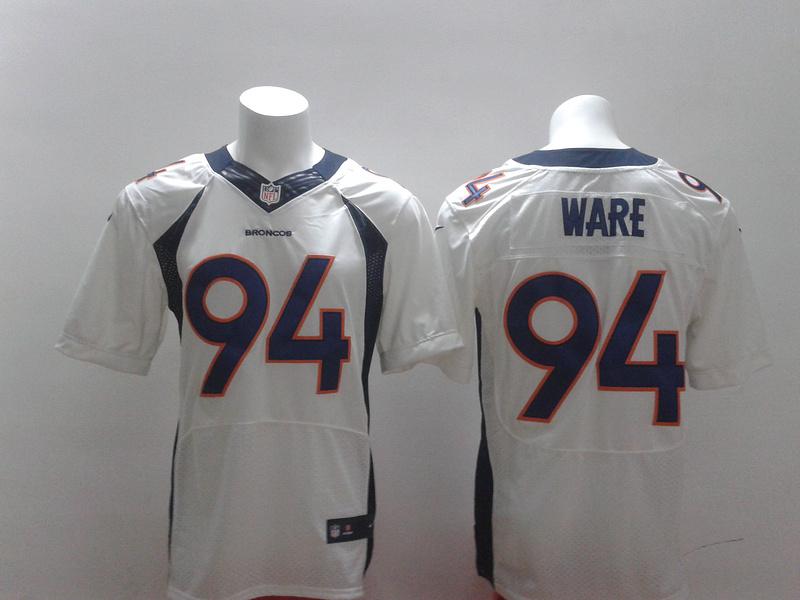 2014 New Nike Denver Broncos 94 DeMarcus Ware white Elite Jersey