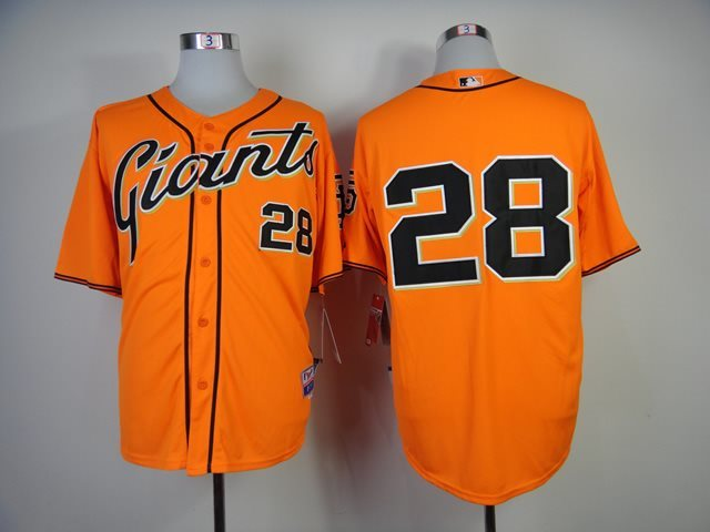 2014 NEW MLB San Francisco Giants 28 Orange Jersey