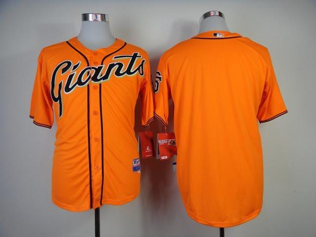 2014 NEW MLB San Francisco Giants blank Orange Jersey .