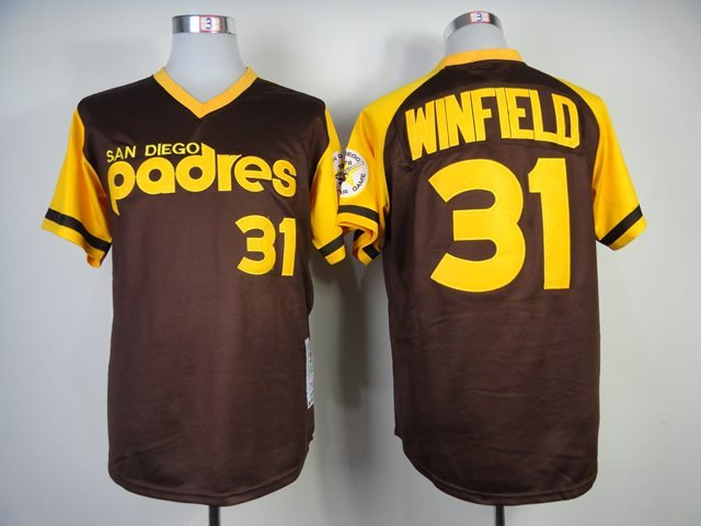 2014 NEW MLB San Diego Padres 31 Winfield coffe Jersey