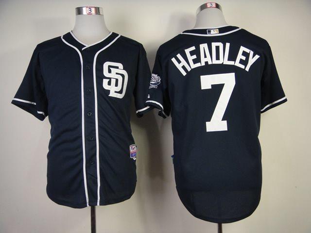 2014 NEW MLB San Diego Padres 7 Headley blue Jersey