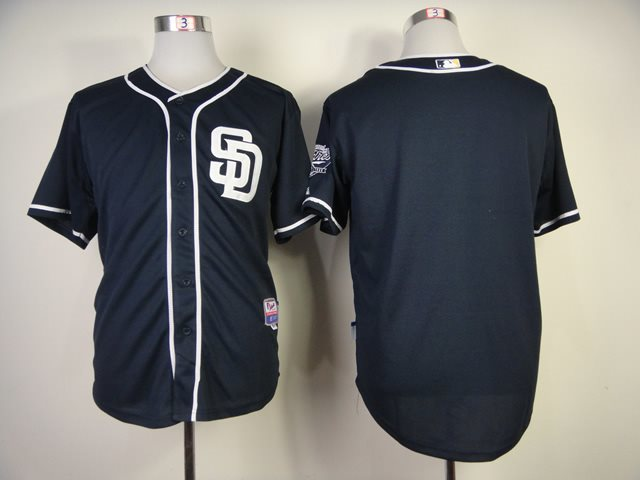 2014 NEW MLB San Diego Padres blank blue Jersey