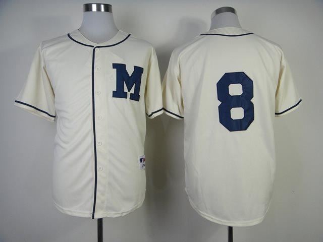 2014 NEW MLB Milwaukee Brewers 8 cream jerseys