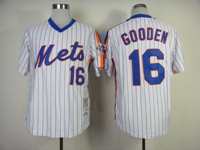 2014 NEW MLB New York Mets 16 Dwight Gooden white 1986 throwback jerseys