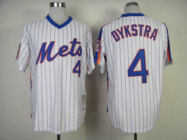 2014 NEW MLB New York Mets 4 Dykstra white 1986 throwback jerseysv