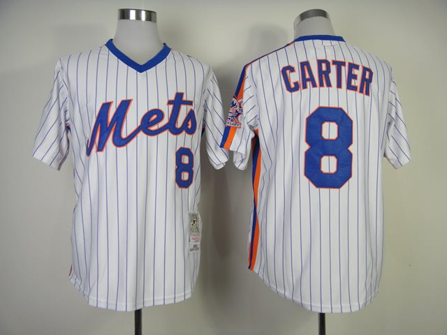2014 NEW MLB New York Mets 8 Carter white 1986 throwback jerseys