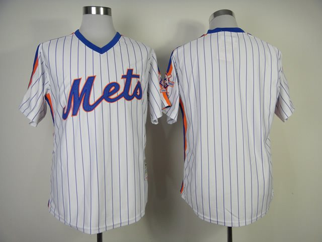 2014 NEW MLB New York Mets blank white 1986 throwback jerseys