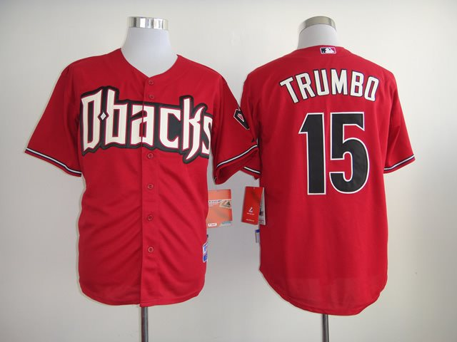 2014 NEW MLB Arizona Diamondbacks 15 TRUMBO Red Jersey