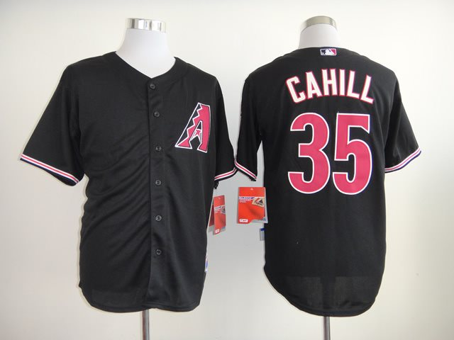 2014 NEW MLB Arizona Diamondbacks 35 CAHILL Black Jersey