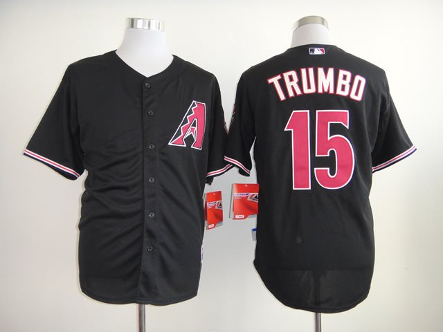 2014 NEW MLB Arizona Diamondbacks 15 Trumbo Black Jersey