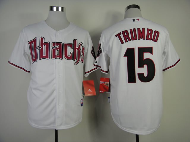 2014 NEW MLB Arizona Diamondbacks 15 Trumbo white Jerseys
