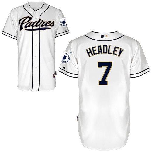 2014 NEW MLB San Diego Padres 7 Headley white Jersey