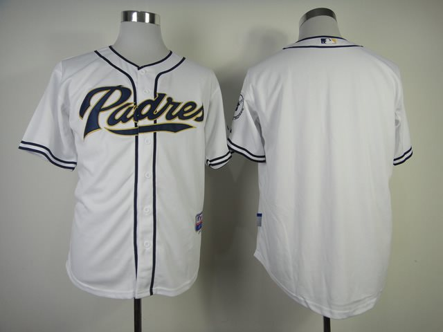 2014 NEW MLB San Diego Padres blank white Jersey