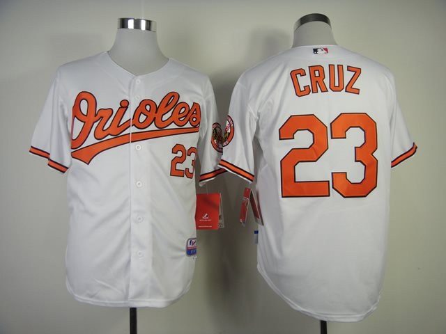 2014 NEW MLB Baltimore Orioles 23 Nelson Cruz White 1954-2014 60th Anniversary Cool Base Jersey