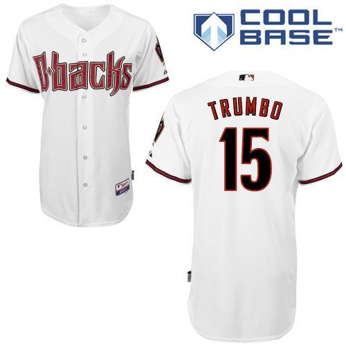 2014 NEW MLB Arizona Diamondbacks 15 Trumbo white cool base Jerseys