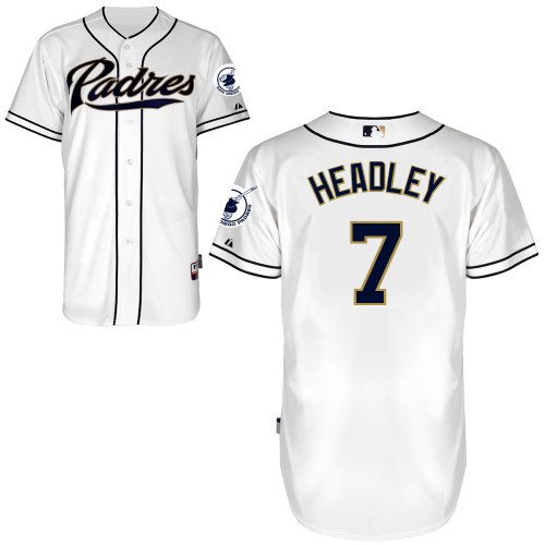 2014 NEW MLB San Diego Padres 7 Chase Headley white Jersey