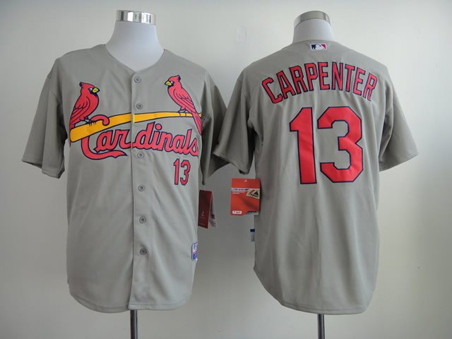 2014 NEW MLB St. Louis Cardinals 13 Matt Carpenter grey jerseys
