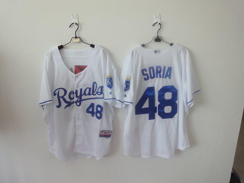 2014 NEW MLB Kansas City Royals women 48 Soria white jerseys